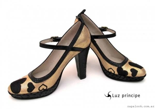 zapatos de fiesta negro y dorado - Luz Principe invierno 2015