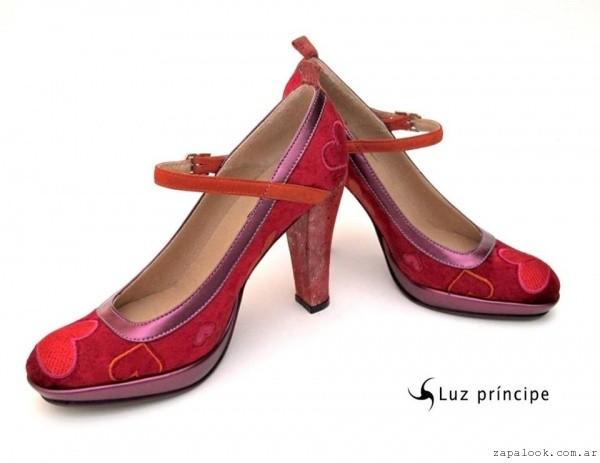 zapatos de fiesta rojo y violeta - Luz Principe invierno 2015