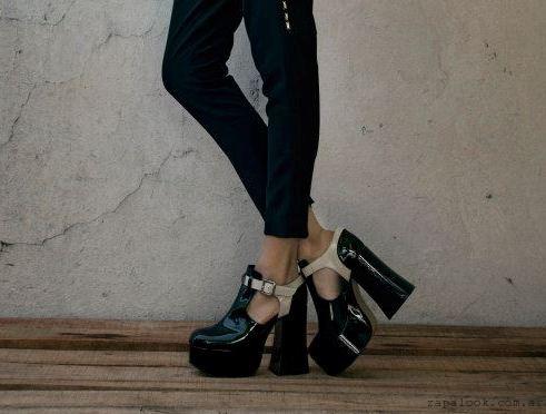 zapatos taco alto de charol  -  zapatos JOW otoño invierno 2015