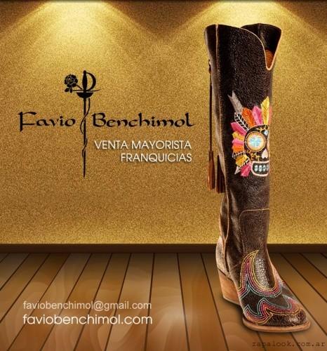 Botas Bucaneras bordadas otoño invierno 2015 -Favio Benchimol