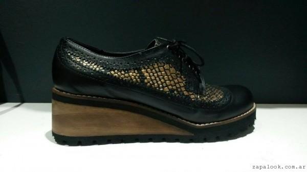 abotinado negro y dorado - Lujuria calzados invierno 2015