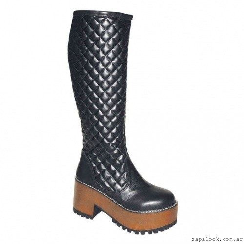 bota negra tipo matleazze  - FIORI Calzature otoño invierno 2015