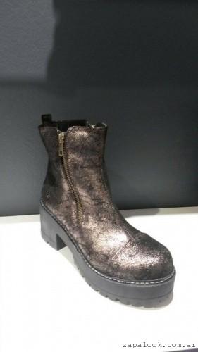botineta color bronce - Lujuria calzados invierno 2015