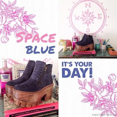 botinetas azules  - Calzados Las Motas otoño invierno 2015