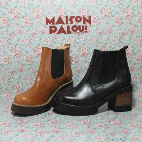 botinetas de cuero Maison palou - pisando fuerte invierno 2015