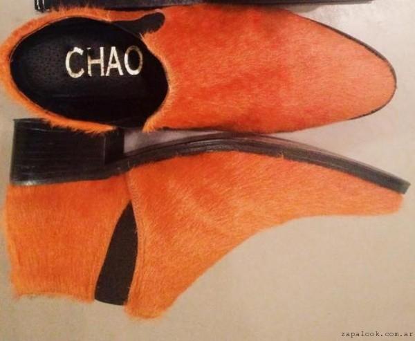 botinetas pelo naranja  - Chao Shoes invierno 2015