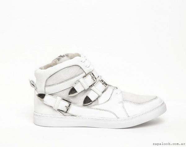 zapatillas blancas - DONNE calzados otoño invierno 2015