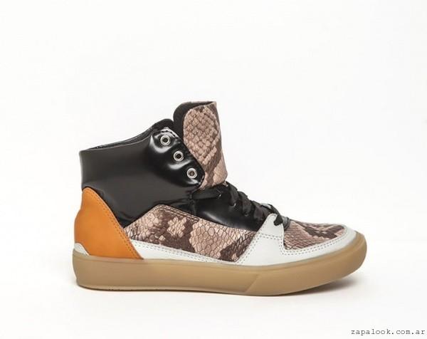 zapatillas botitas multicolor - DONNE calzados otoño invierno 2015