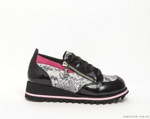 zapatillas fucsia y negras - DONNE calzados otoño invierno 2015