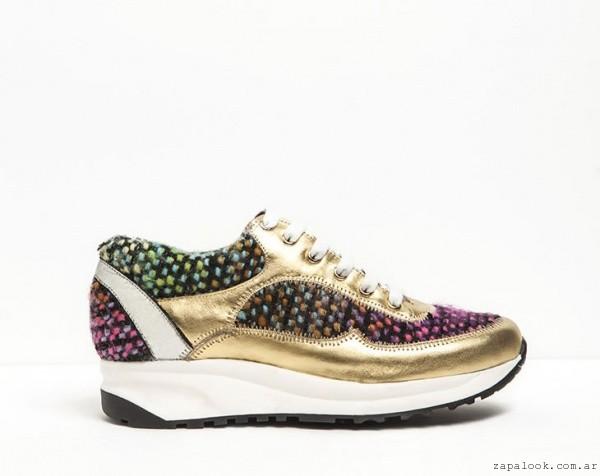 zapatillas metalizadas - DONNE calzados otoño invierno 2015