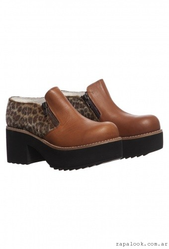 zapato animal print con pelo   Mary and Joe otoño invierno 2015