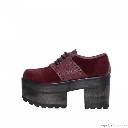 zapatos acordonados de gamuza  L'TAU invierno 2015
