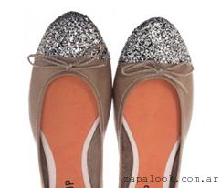 balerinas color vision zapatos con punta de glitter invierno 2015 Le Loup