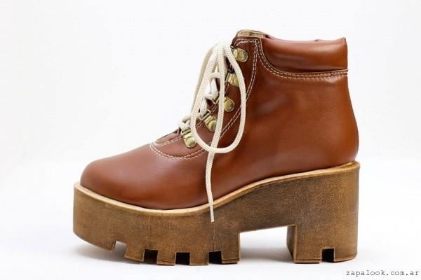 botineta acordonada con plataforma - NEXT FASHION calzados invierno 2015
