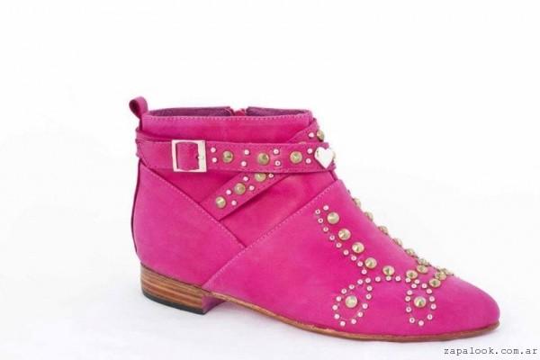 botineta fucsia Lorena g zapatos invierno 2015