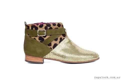 botineta mix texturas  Lorena g zapatos invierno 2015