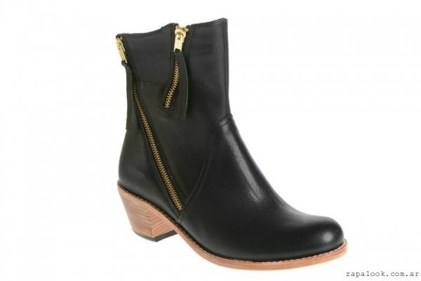 botineta negra con cierre invierno 2015 - Mandarine calzados