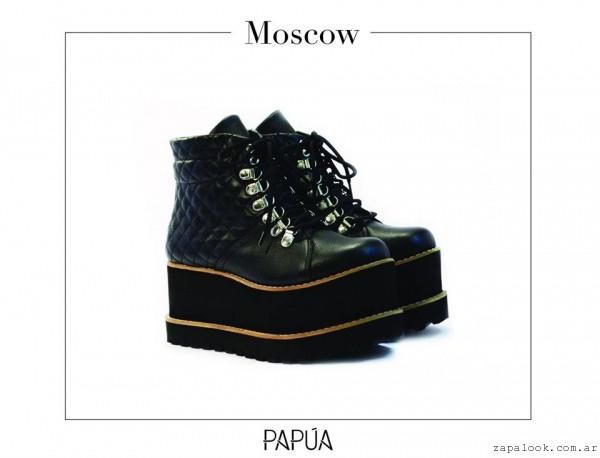 d151f884 botinetas acordonada matelasse Papúa Zapatos invierno 2015 – Zapalook