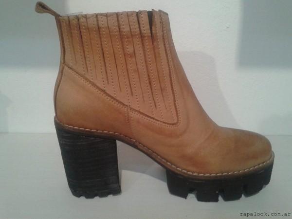 botinetas color suela - Zaia calzados invierno 2015