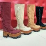 bucaneras con plataformas y flecos - Micaela calzados invierno 2015