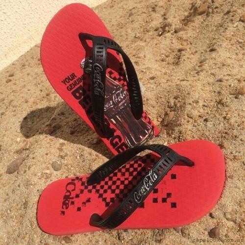ojotas rojas de coca cola shoes verano 2016
