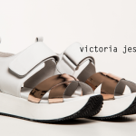 sandalia chatita blanca y bronce  verano 2016 - Victoria Jess