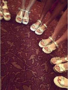 sandalias bajas plateadas  - Anticipo RH by lali Ramirez verano 2016