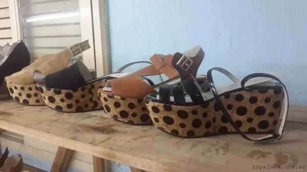 sandalias con base corcho verano 2016 - Nina Molina