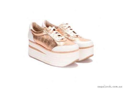 879de40f873a4 Sneakers – zapatilla Cuero dorado verano 2016 – PAMUK – Zapalook