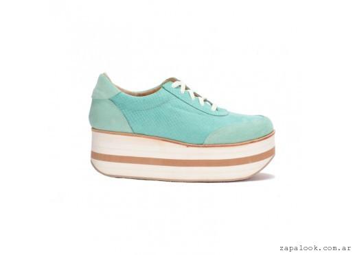 5004d1b9fe8 Sneakers – zapatilla Cuero escamado aqua verano 2016 – PAMUK – Zapalook