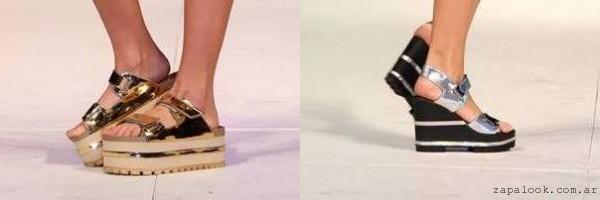 sandalias metalizadas verano 2016 - Lady Comfot