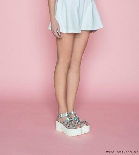 8eafae2842d sandalias plateadas con plataformas blancas verano 2016 – Ignacia calzados