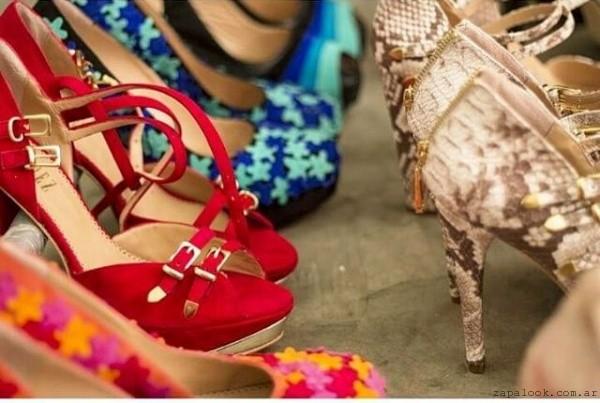 sandalias rojas G Valdez verano 2016