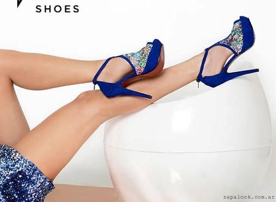 zapatos azules de fiesta  - Calzados Kaitz primavera verano 2016
