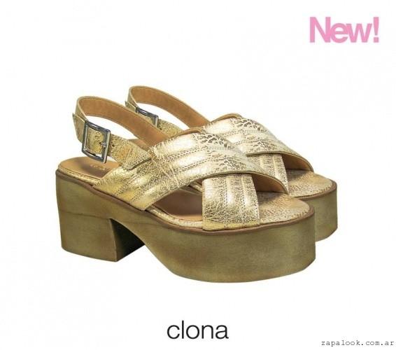 Clona - sandalias doradas verano 2016