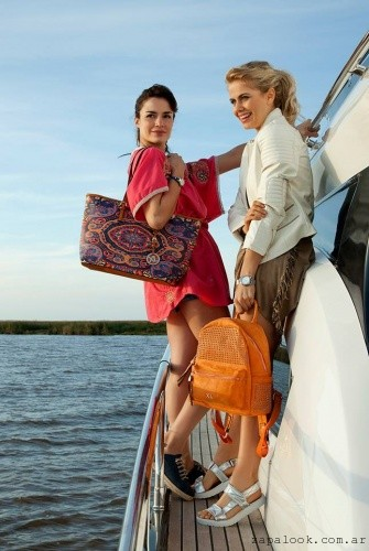 bolso playa y mochila naranja primavera verano 2016 de XL Extra Large