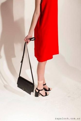 cartera y sandalia negra MISHKA verano 2016