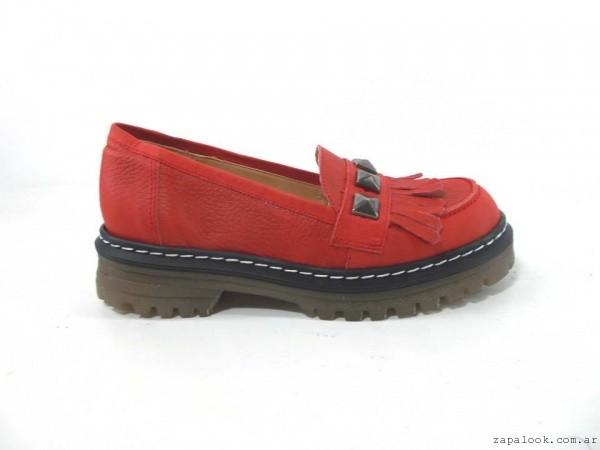 mocasin rojo verano 2016 - Magali Shoes