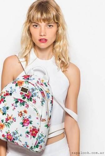 mochila floreada TROPEA verano 2016