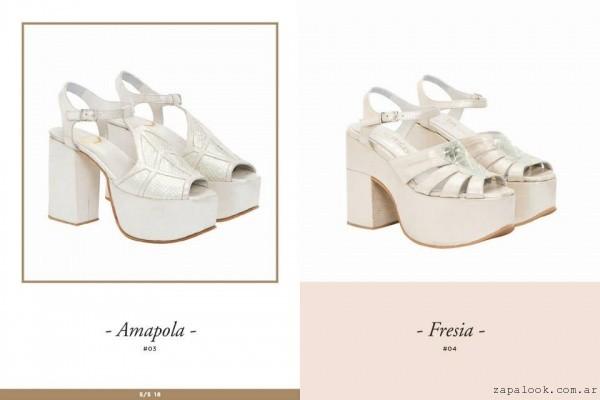 sandalias con plataformas altas para novias - Lomm primavera verano 2016