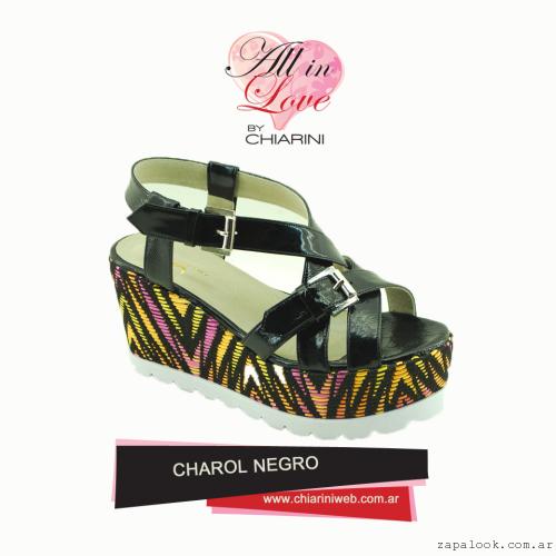 Chiarini - sandalia negra de charol verano 2016