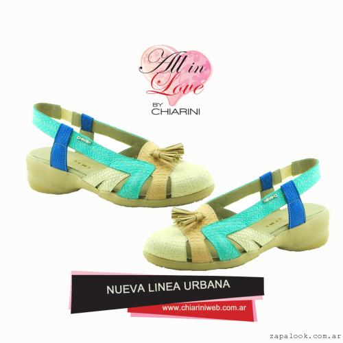 Chiarini - sandalias casuales multicolor verano 2016