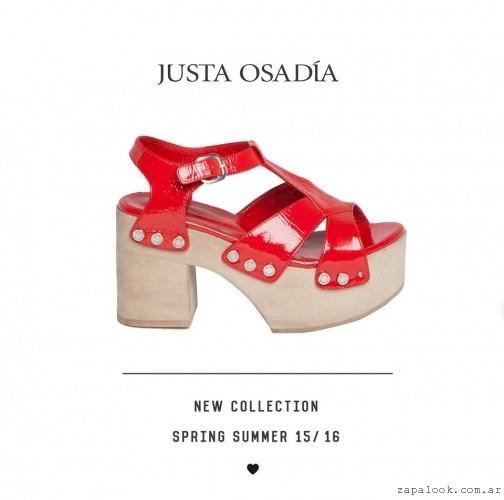 Justa Osadia - sandalia roja charol verano 2016