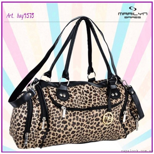MARILYN BAIRES , bolso animal print verano 2016