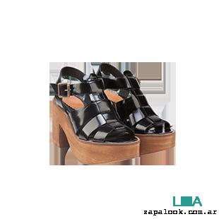 Maggio Rossetto - sandalias negras charol verano 2016