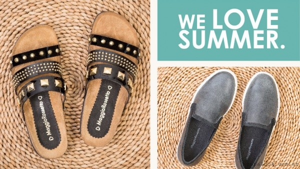 Maggio Rossetto - sandalias negras con tachas verano 2016