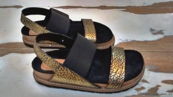 Micadel \u2013 sandalias doradas y negras verano 2016