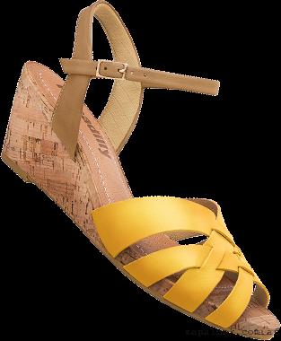 Piccadilly primavera verano 2016 - sandalias amarillas