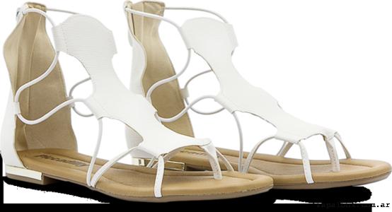 Piccadilly primavera verano 2016 - sandalias chatitas blancas