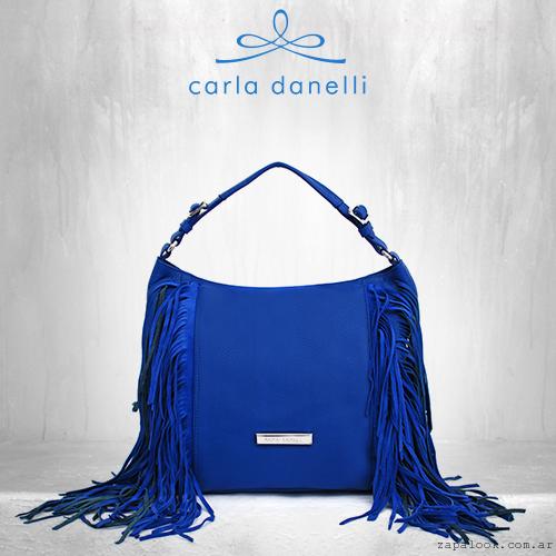 cartera azul intenso Carla Danelli verano 2016